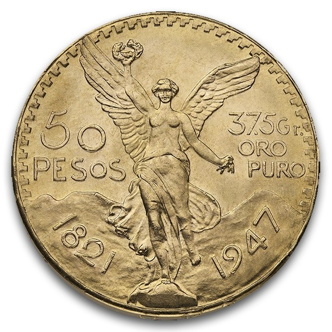 Mexico Gold 50 Pesos (Random Year)
