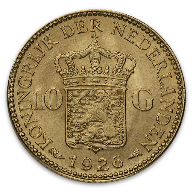 Netherlands Gold 10 Guilders