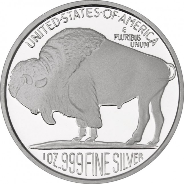 SilverTowne Buffalo Replica | 1 Oz Silver Medallion