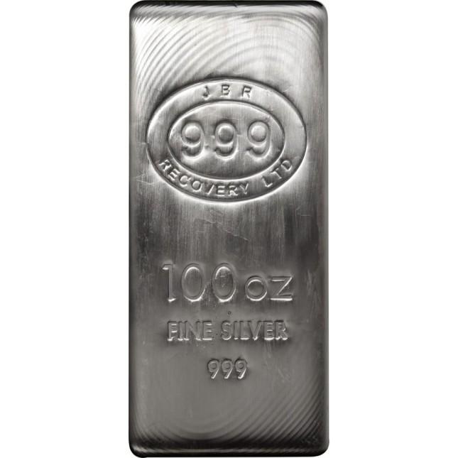 100 Oz JBR Silver Bar (New)