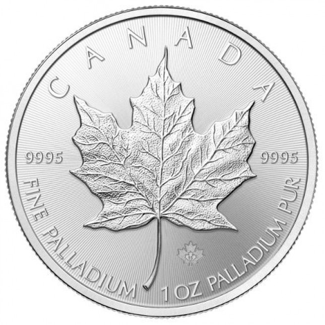1 Oz Canada Palladium Maple Leaf (Random Year)