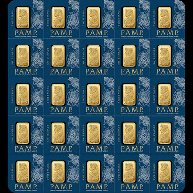 25 Gram PAMP Suisse Gold MultiGram Divisible Bar