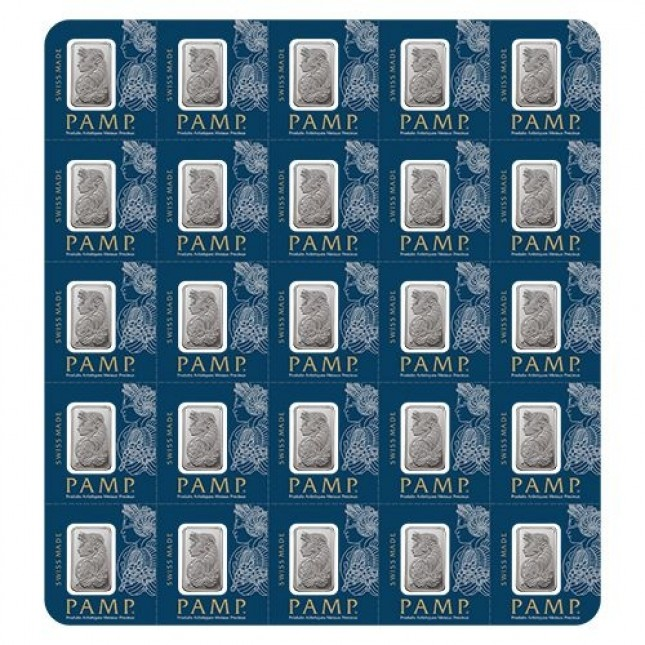 25 Gram PAMP Suisse Platinum MultiGram Divisible Bar