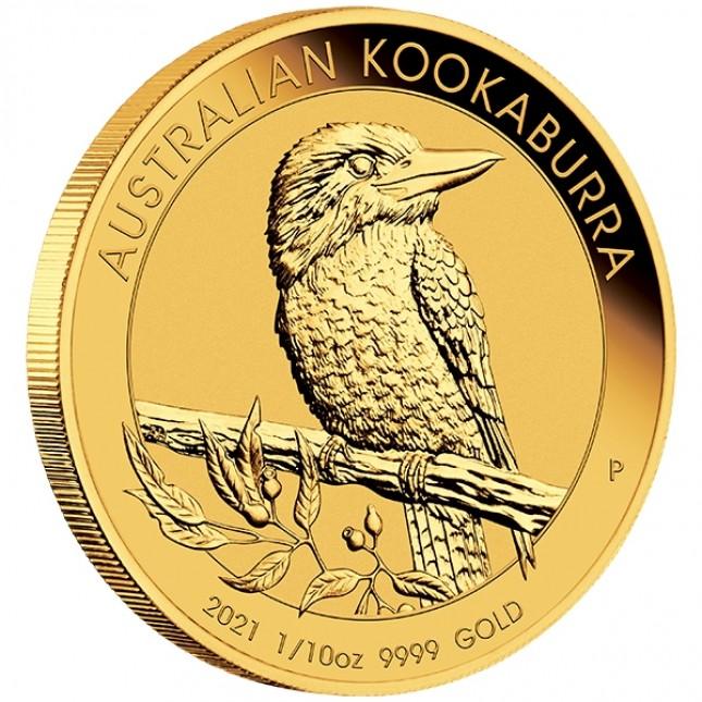 2021 Australia 1/10 Oz Gold Kookaburra