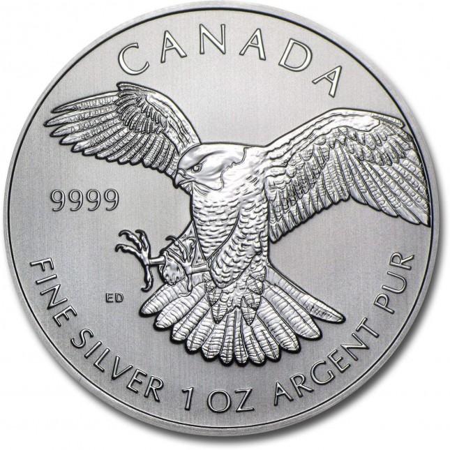 2014 RCM 1 oz Silver Birds of Prey Series Peregrine Falcon
