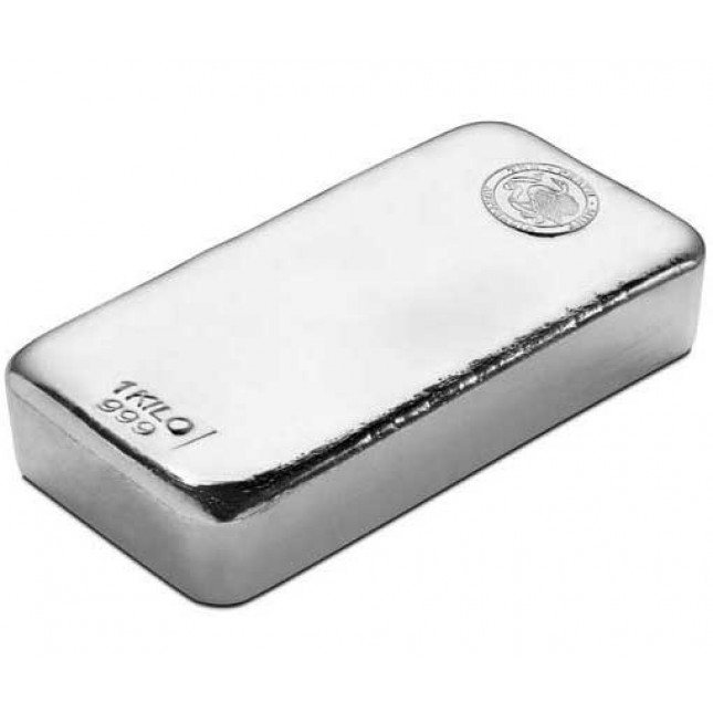 Perth Mint Kilo Silver Bar (New)