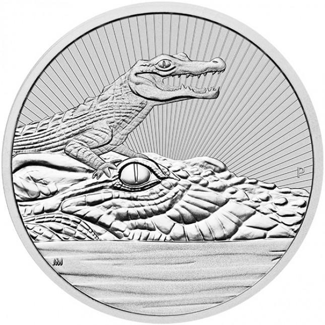 2019 Australia 10 oz Piedfort 'Next Generation Series' Silver Crocodile (BU)