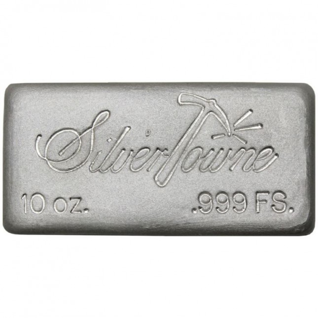 SilverTowne Poured | 10 Oz Silver Bar