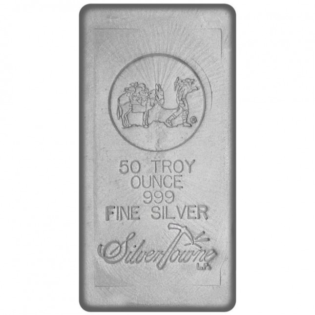 SilverTowne Poured | 50 Oz Silver Bar