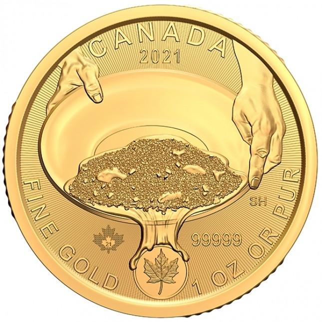 2021 Canada 1 Oz .99999 Gold Klondike 125th Anniversary Coin (BU)