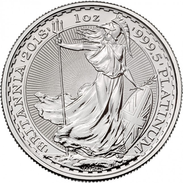 2018 1 Oz Great Britain Platinum Britannia (BU)
