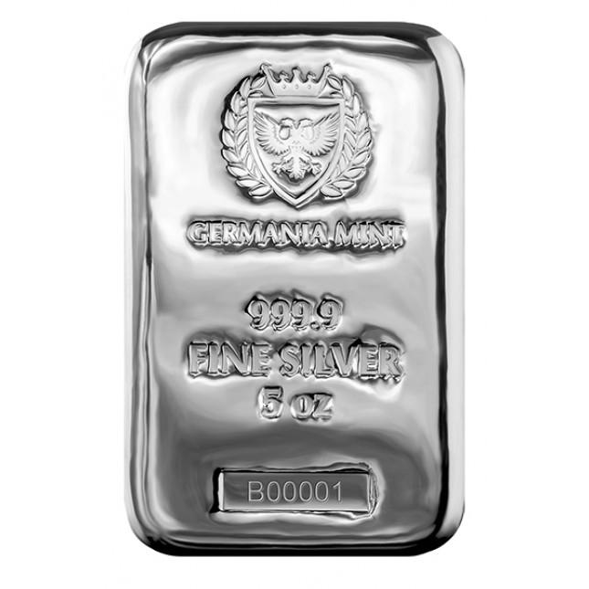 Germania Mint 5 Oz Silver Bar (New)