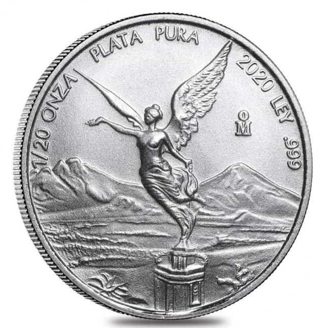 2020 1/20 Oz Mexican Silver Libertad Coin (BU)