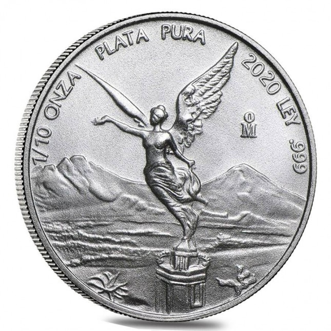 2020 1/10 Oz Mexican Silver Libertad Coin (BU)