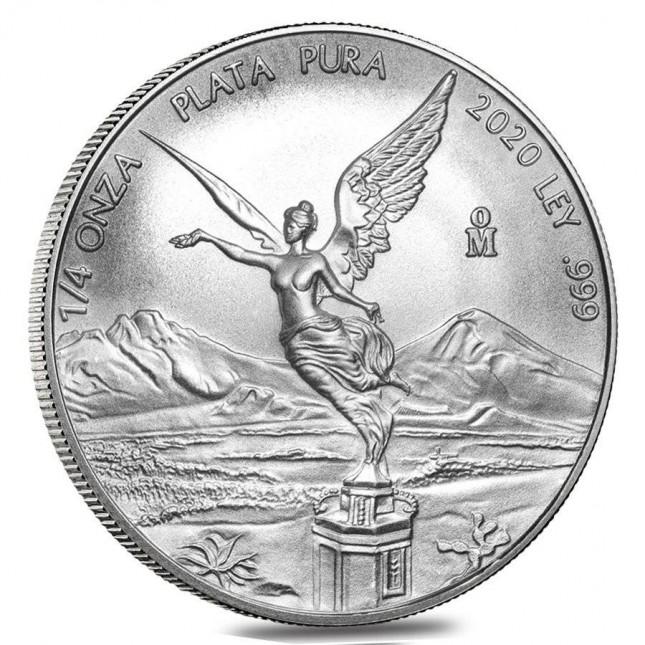 2020 1/4 Oz Mexican Silver Libertad Coin (BU)
