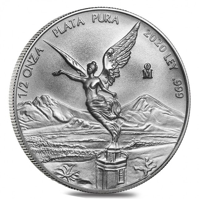 2020 1/2 Oz Mexican Silver Libertad Coin (BU)