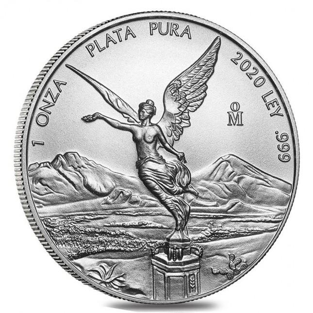 2020 1 Oz Mexican Silver Libertad Coin (BU)