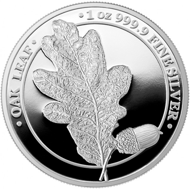1 oz Silver Round | The Oak Leaf 2019 (Proof)