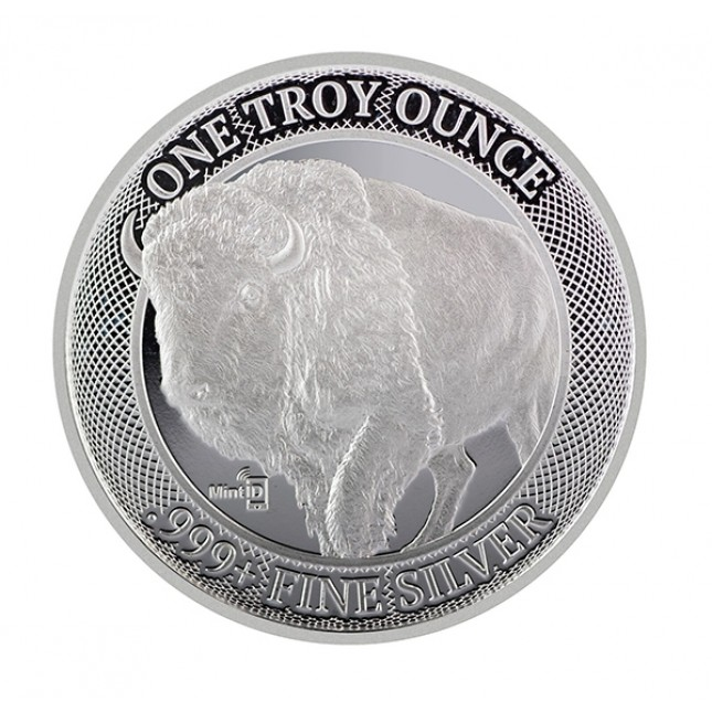MintID 1 oz Silver Round Buffalo Design (BU)