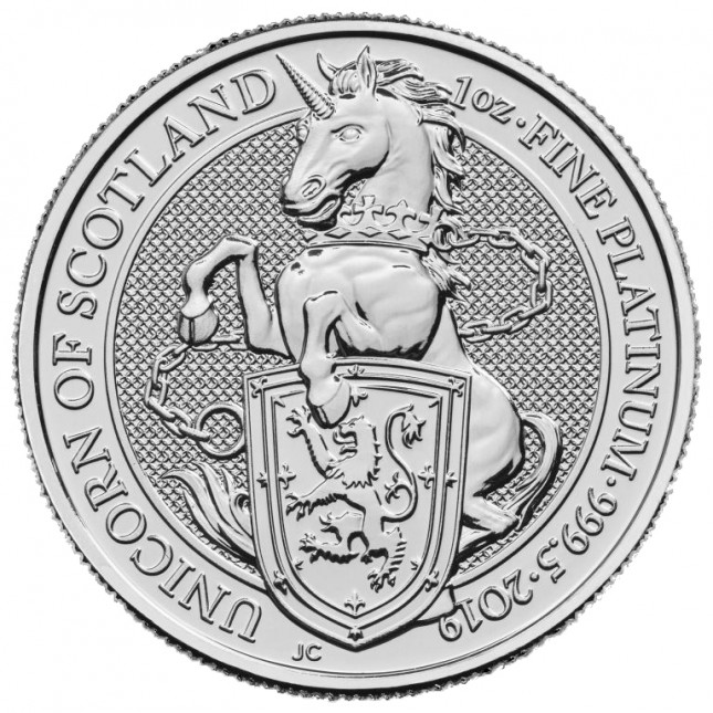 2019 UK 1 Oz Platinum Unicorn (Queen's Beasts Series)