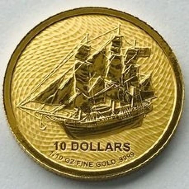 2020 1/10 oz Cook Island Bounty Gold Coin (BU)