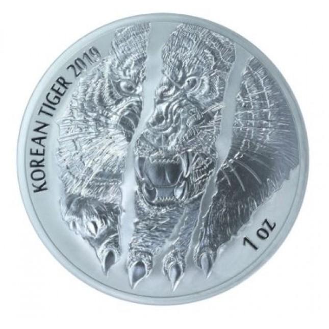 2019 South Korea 1 Oz Silver Tiger (BU)