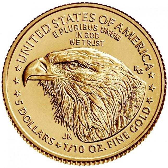 2021 1/10 Oz American Gold Eagle Type 2 (BU)