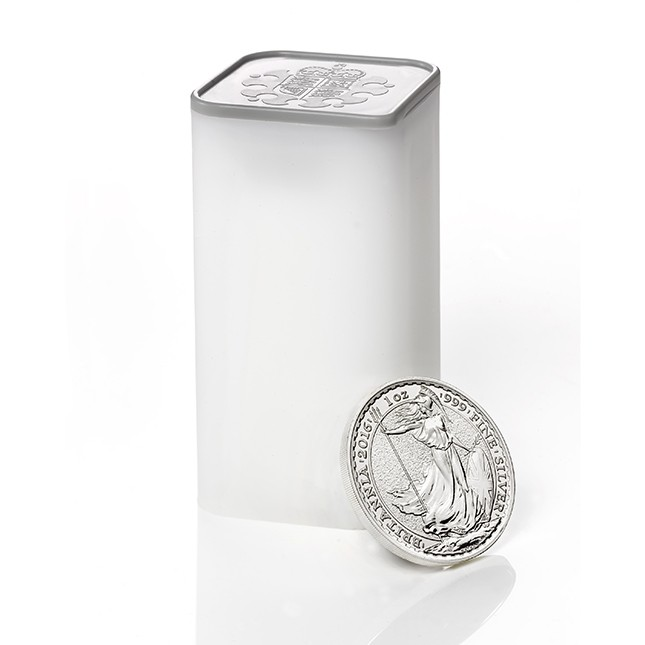2019 Great Britain 1 Oz Silver Britannia - Tube/Roll of 25
