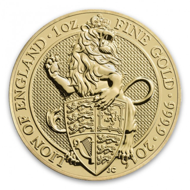 2016 UK 1 Oz Gold Lion (Queen's Beasts Series)
