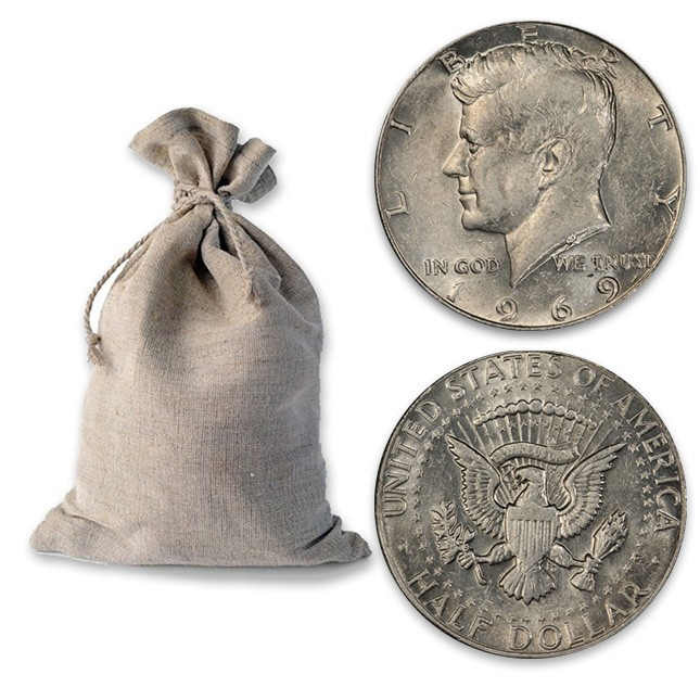 Buy $1000 Face Bag of 40% Silver 1965-1970 Kennedy 50c