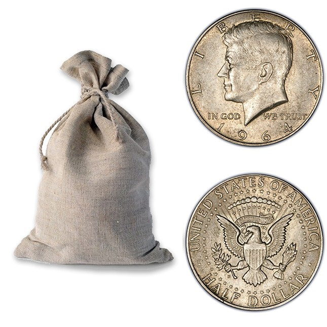 Bag of 90% Silver 1964 John F Kennedy (JFK) Half Dollars - $100 Face Value