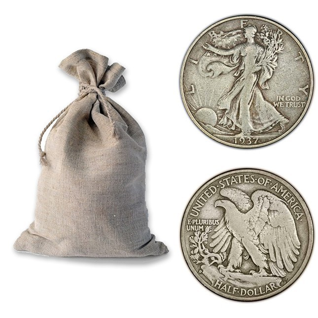 Bag of 90% Silver Walking Liberty Half Dollars - $100 Face Value