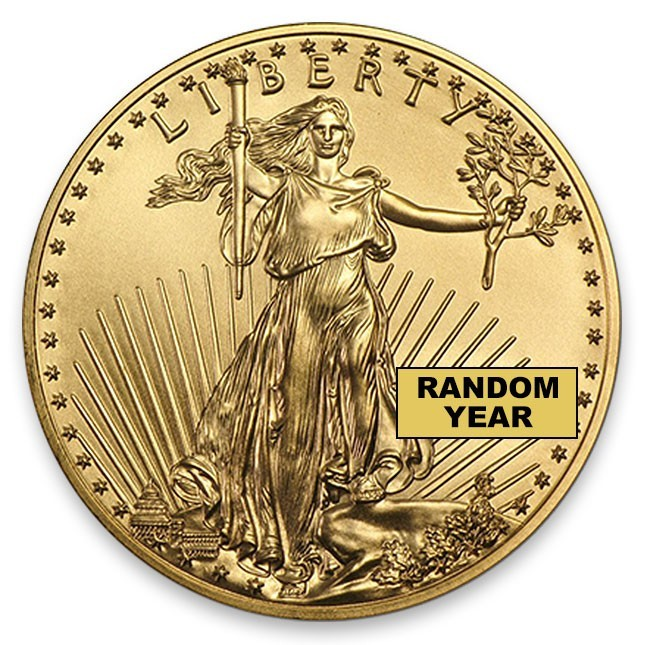 1 Oz American Gold Eagle BU (Random Year) Obverse