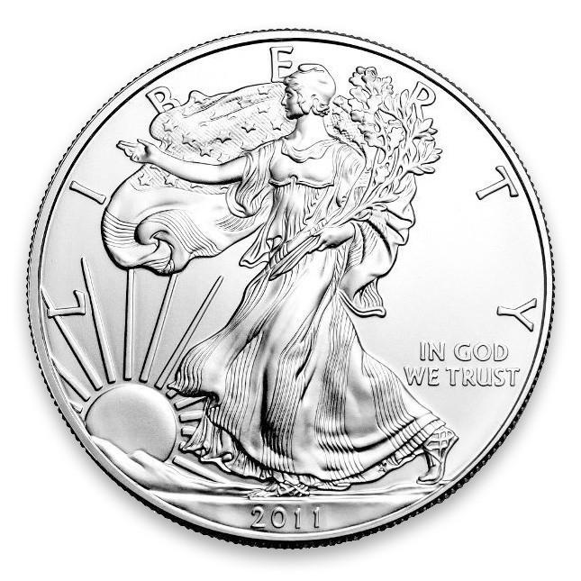 2011 1 Oz American Silver Eagle Brilliant Uncirculated (BU) Obverse