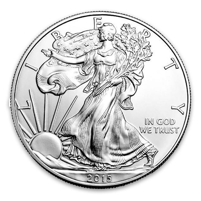 2015 American 1 Oz Silver Eagle Coin Obverse