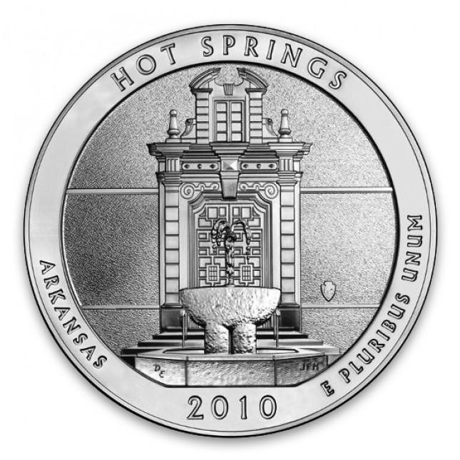 2010 Hot Springs 5 Oz American Silver ATB