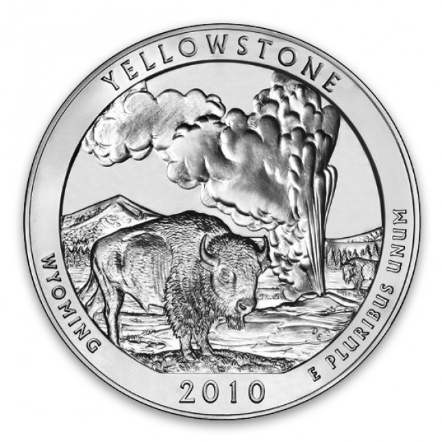2010 ATB 5 oz Silver Yellowstone National Park (BU)