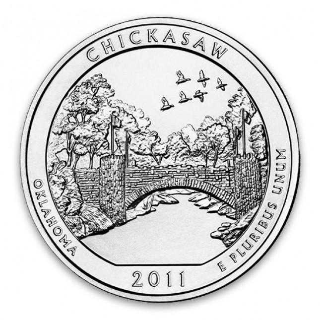 2011 Chickasaw 5 Oz American Silver ATB