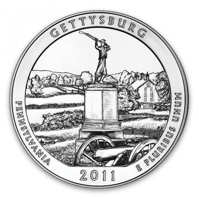2011 Gettysburg 5 Oz American Silver ATB