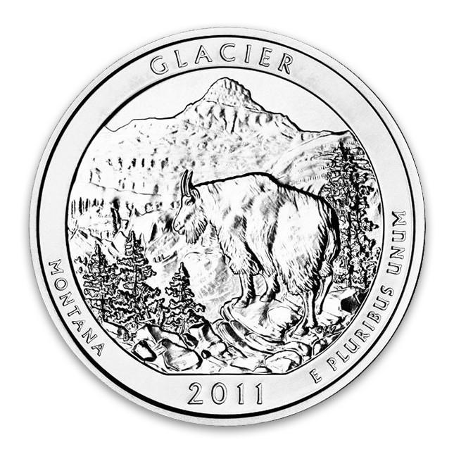 2011 Glacier 5 Oz Silver ATB Coin (BU)