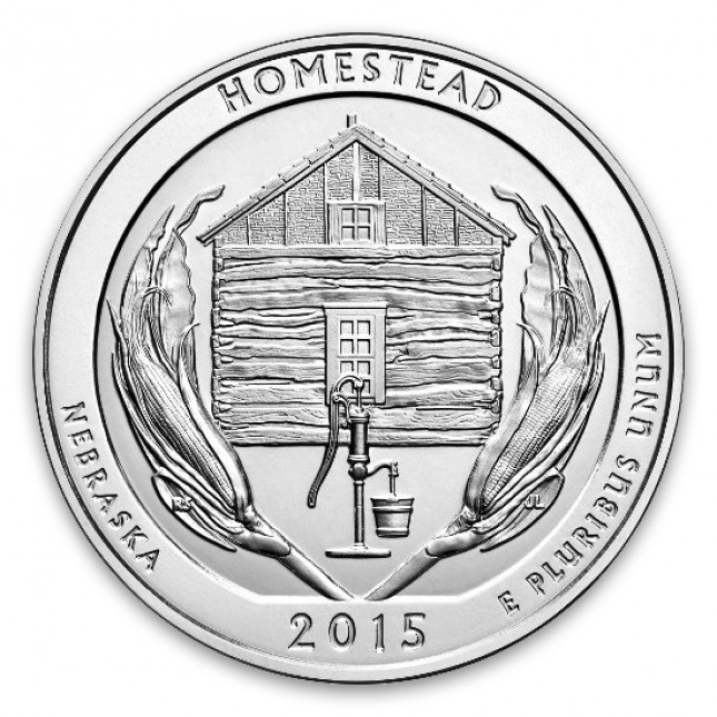 2015 Homestead 5 Oz American Silver ATB