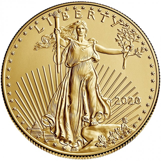 2020 1/2 Oz American Gold Eagle (BU)
