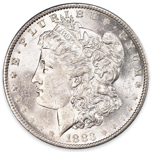 1878-1904 Morgan Silver Dollar BU Obverse