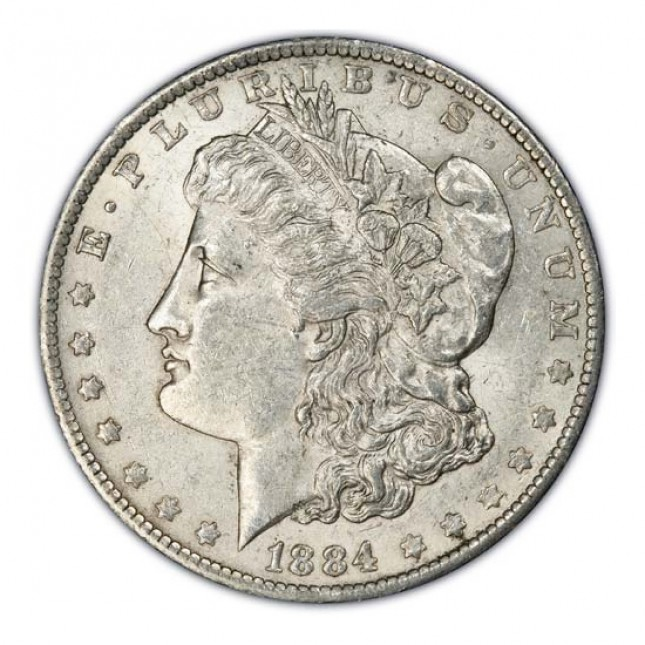 1878-1904 Morgan Silver Dollar Coin About Uncirculated AU Obverse