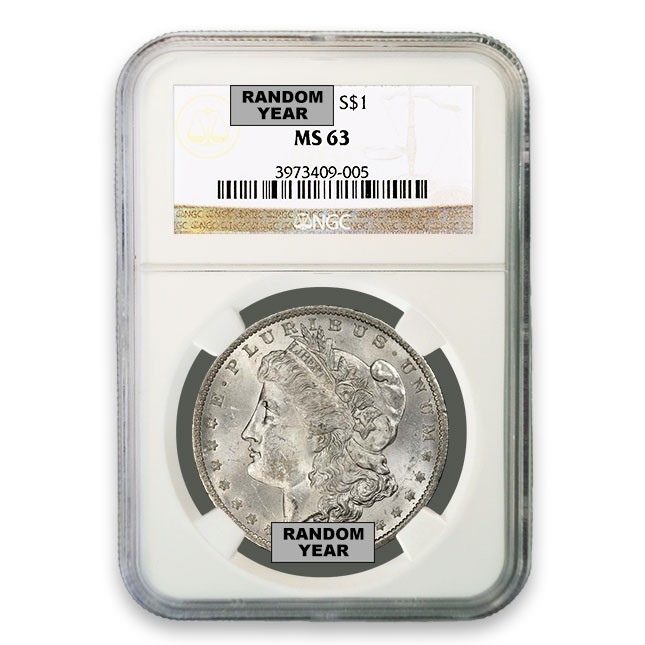 1878-1904 Morgan Silver Dollar NGC MS63 (Dates Our Choice) Obverse
