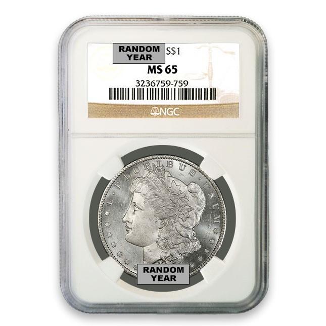 1878-1904 Morgan Silver Dollar Coin NGC MS65 Obverse