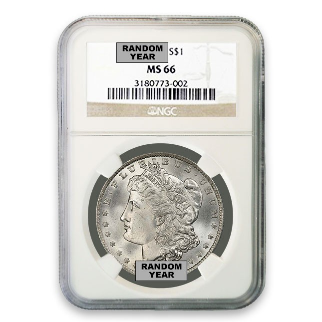 Morgan Silver Dollar NGC MS66 (Random)
