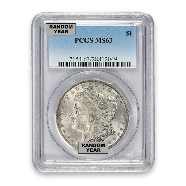 Morgan Silver Dollar PCGS MS 63 (Random Year) Obverse