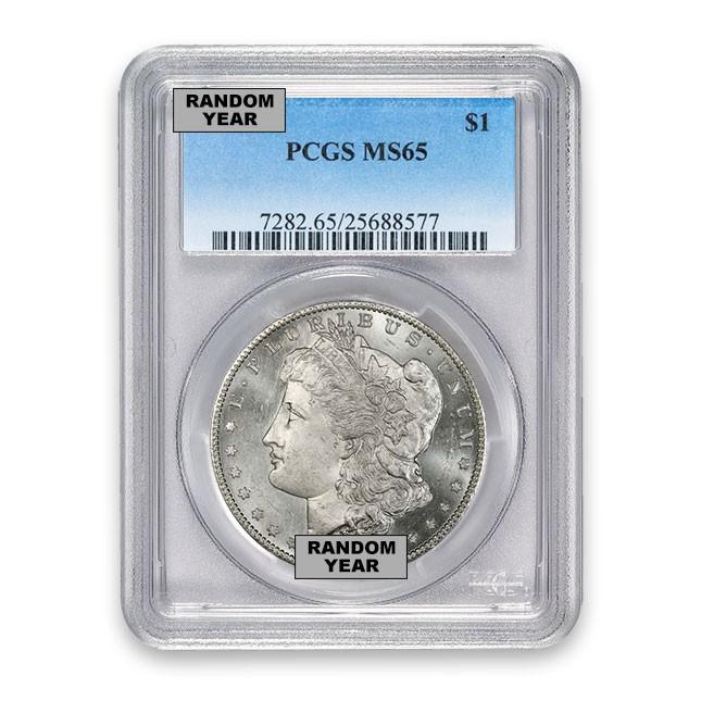 Buy 1878-1904 Morgan Silver Dollar Coin PCGS MS65 Obverse