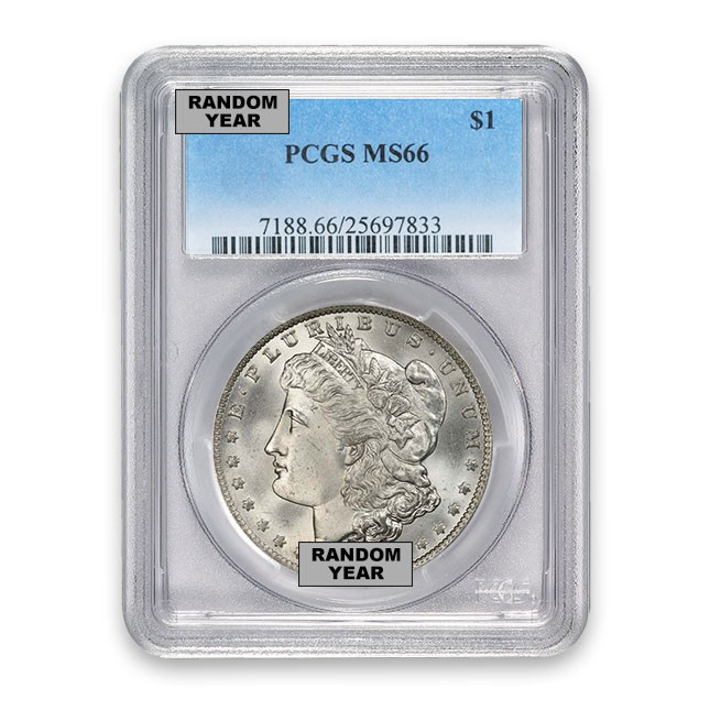 Morgan Silver Dollar PCGS MS66 (Random)